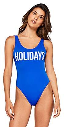 Iris & Lilly Women's Holiday Logo Swimsuit,Large