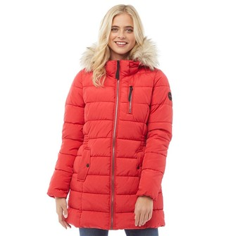 Only Womens North Quilted Coat Goji Berry