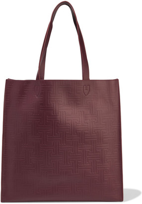 Lanvin Embroidered Embossed Leather Tote