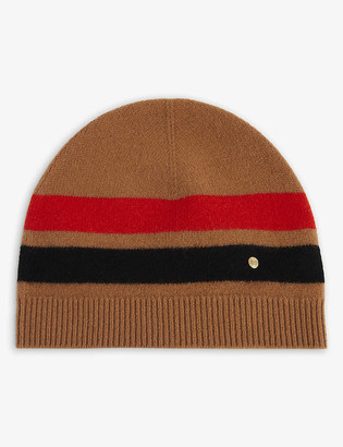 Burberry Graphic-stripe cashmere and merino wool-blend beanie