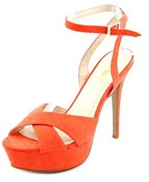 Report Valleta Women Open Toe Synthetic Orange Platform Sandal.