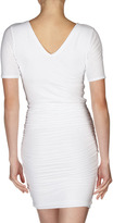 James Perse Fitted Short-Sleeve T-Shirt Dress, White