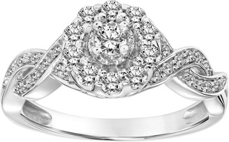 Affinity Diamond Jewelry Affinity 4/10 cttw Vintage Inspired Diamond Ring, 14K Gold
