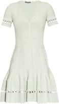 Alexander McQueen Deep V-neck knitted dress