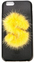 Fendi 'ABCover S' iPhone 6 hard case - women - Calf Leather/Mink Fur - One Size