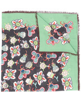 Valentino printed wrap scarf - women - Modal/Cashmere - One Size