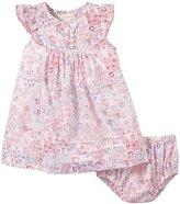 Angel Dear Meadow Floral Flutter Dress (Baby) - Pink-12-18 Months