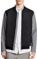 Vince Highline Nylon Varsity Bomber Jacket