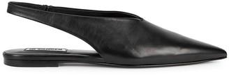 Jil Sander Black Slingback Leather Flats