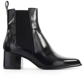 Roberto Festa Black Leather Rania Chelsea Boot
