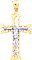 JCPenney FINE JEWELRY 14K Two-Tone Gold Crucifix Pendant