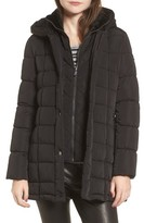 Calvin Klein Women's Quilted Down Coat With Vest Inset