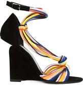 Pierre Hardy 'Scoubi Pop' wedge sandals - women - Suede/Leather - 37
