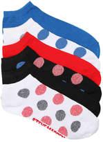 Steve Madden Women's Marled Dot Women's No Show Socks - 6 Pack