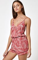 La Hearts Surplice Embroidered Romper