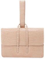 Nancy Gonzalez Crocodile Looped Clutch Bag w/Wristlet Strap