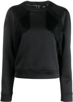 Class Roberto Cavalli fringe-trimmed sweatshirt