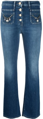 Elisabetta Franchi Mid Rise Cropped Jeans