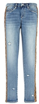 Blank NYC Blanknyc Girls' Snakeskin Trim Skinny Jeans - Big Kid
