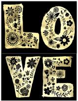 Floral 'Love' Pocket Notepad