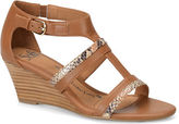 Sofft Pippa Brown Leather Wedge Sandals