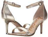 Sam Edelman Patti Ankle Strap Heeled Sandal (Light Gold Leather) High Heels