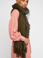 Free People Mongolian Fur Scarf