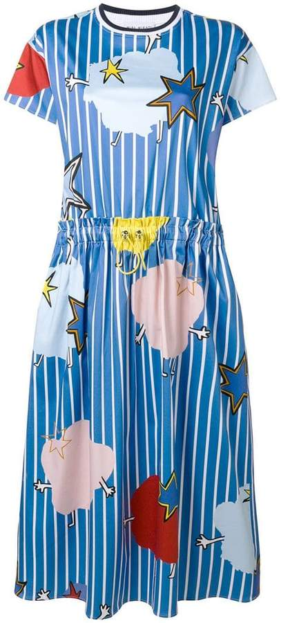 Mira Mikati Monster Stripe printed T-shirt dress