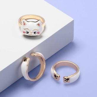 Girls' 3pk Cat Rings - More Than MagicTM