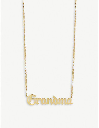 Maria Black Grandma 18ct yellow gold-plated necklace
