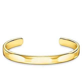 Thomas Sabo Unisex Bangle Minimalist Gold 925 Sterling Silver, 18k Yellow Gold Plating AR098-413-39