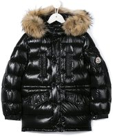 Moncler 'Riviere' hooded parka - kids - Feather Down/Polyamide - 6 yrs