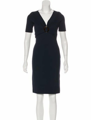 Gucci Short Sleeve Casual Dress Navy
