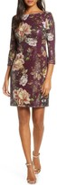 Vince Camuto Floral Sequin Shift Dress