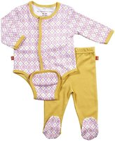 Magnificent Baby L/S Burrito Bodysuit & Pants - Girl's Marrakesh-3M