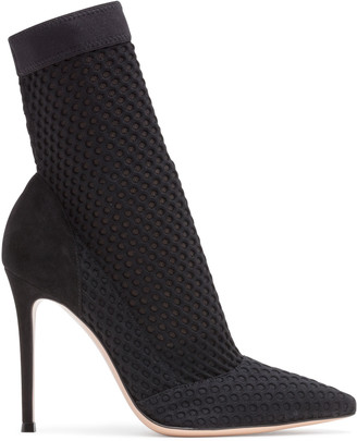 Gianvito Rossi 105 Black Knit Booties