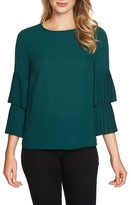 1 STATE Women's 1.state Pleated Sleeve Blouse