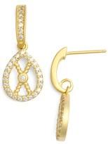Freida Rothman Pavé Rope Earrings