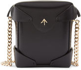 Manu Atelier Black Micro Pristine Box Bag