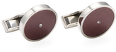 Canali Stainless Steel Round Cufflinks