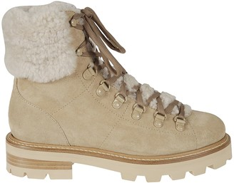 Jimmy Choo Eshe Flat Shearling Lace-up Boots