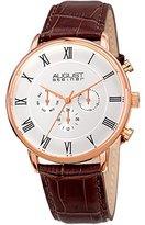 August Steiner Men's 'Polished Finish Alloy Case' Quartz Movement Watch(Model: AS8214RG)