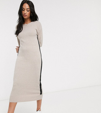 M Lounge Micha Lounge midaxi dress with contrast stripe