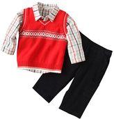 First Moments® 3-Pc. Argyle Sweater Vest Set