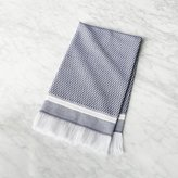 CB2 Roca Navy Blue Turkish Hand Towel