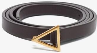 Bottega Veneta Triangle-buckle Leather Belt - Brown Gold