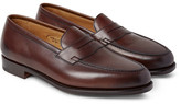 Edward Green Duke Leather Penny Loafers - Dark brown