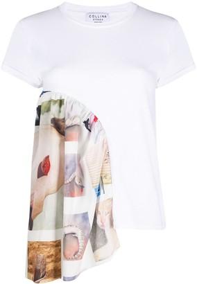 Collina Strada x Charlie Engman photo-print insert T-shirt