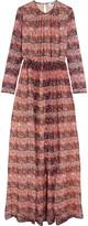 MSGM Floral-print silk-chiffon gown