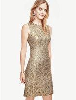 Ann Taylor Petite Shimmer Jacquard Flare Dress